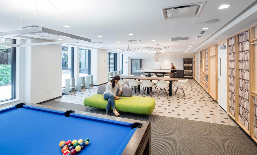 silverback development, silverback real estate, silverback, silverback new york city, silverback nyc, 535 west 43rd street, games room